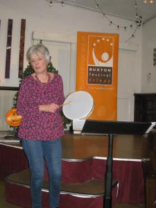 Kaleidoscope Choir's Carol Bowns beats the drum for Derbyshire Village Carols