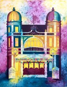 Buxton Opera House painting by Pam Smart