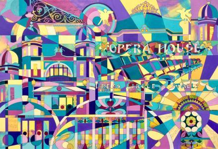 'Matcham Mosaic' painting of Buxton Opera House Pam Smart