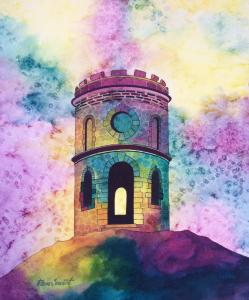 'Solomon's Temple' Buxton, painting by Pam Smart