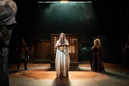 Helen Grady, Calchas, Troilus and Cresida RSC, Photo Helen Banks