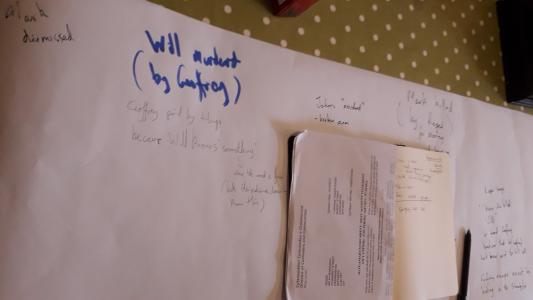 Note taking during the development of the script